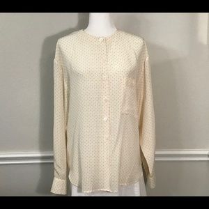 Vintage Silk Blouse by Christian Dior, Size 12